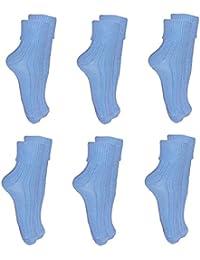 **Great Value** Ladies 6pk Petrol Blue Soft Top Socks