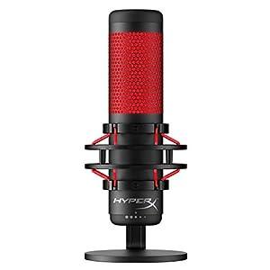 HyperX HX-MICQC-BK QuadCast – Standalone Mikrofon mit umfangreichen Funktionen für Streamer Gamer