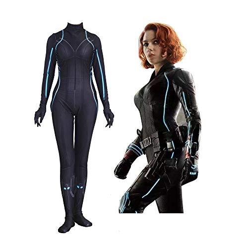 SEJNGF Avengers Cosplay Siamese Tights Halloween Lady Cosplay Kostüm (ohne Kopfbedeckung),Black-XXXL