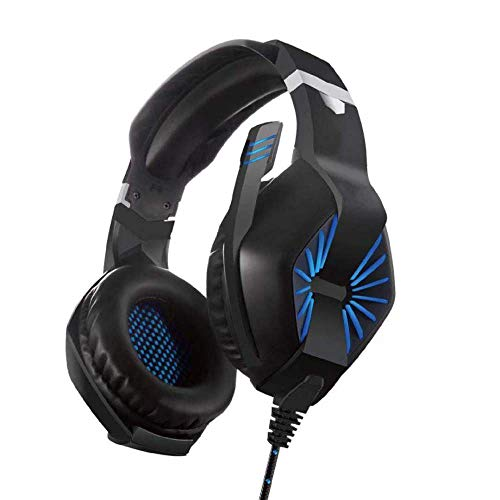 GINY PC Headset USB Headset & 3.5mm Computer Headset Stereo Sound Gaming Headset Gaming Headset Over Ear Gamer Headphones für PS4 PC Xbox One Laptop Mac Handy Tablet Schwarz