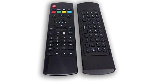 Uncorex Mini 2,4G Wireless Multifunktions Fernbedienung mit Tastatur - Drahtlose Tastatur/Keyboard Maus Fernbedienung mit Infrarot Air Control für PC, Smart TV, Android TV Box Media Player