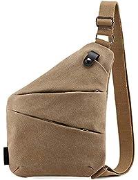 Bandolera Ovecat, cruzada al hombro, por el pecho o la espalda, mochila antirrobo, para hombre y mujer, caqui