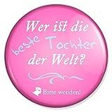 Spruch Wer ist die beste Tochter der Welt Schminkspiegel, Taschenspiegel Schminkspiegel Reisespiegel Handspiegelmit 59 mm Durchmesser