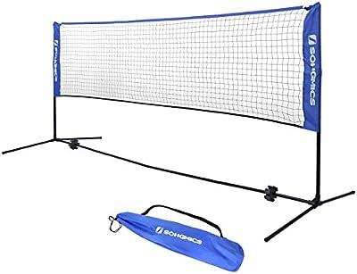 Songmics Juego de Red & Poste de Tenis, Bádminton, Voleibol, 500cm, con bolsa de transporte SYQ500