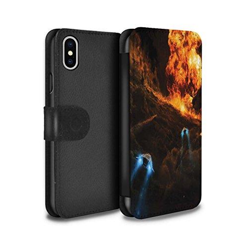 Offiziell Chris Cold PU-Leder Hülle/Case/Tasche/Cover für Apple iPhone X/10 / Einfrieren Muster / Fremden Welt Kosmos Kollektion Chaos Entfesselt