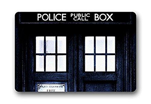Doormat No.01 Custom Doctor Who My Other Car Is A Tardis Police Box Home Door Mats Top Fabric&Rubber ( ) Machine Washable Bathroom Welcome Mats Floor Mat Rug Indoor/Outdoor (23.6X15.7 Inches)