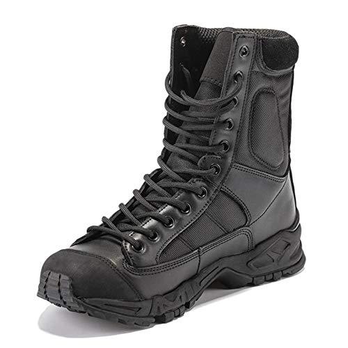 Huatime Schuhe Herren Arbeits Berufsschuhe Militär Einsatz - Kampf Stiefel Knöchel Militär Taktisch Plattform Leder Schnürschuhe Armee Sicherheit Outdoor Wüste Schuhe Leicht Atmungsaktiv