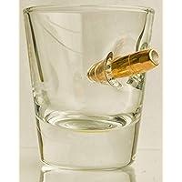 KolbergGlas ShotGlas mit realem Geschoß- Cal.308 HandMade Geschenkidee Inhalt=45 ml