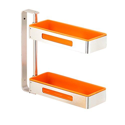 Storage rack. Küchengestell Ecke rotierendes Gewürzgestell Wand-Multifunktionslager Haushalt Punch-Free Herausnehmbare waschbar Up und Down-Einstellung (Farbe : D, größe : 39.2cm) -
