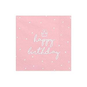 partydeco.pl Servietten Happy Birthday, 33 x 33 cm, 1Pack(20Stück)