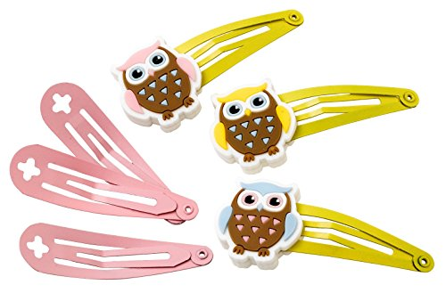 Brownie Guide Girls Owl Hair Clips