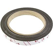 first4magnets Flexible magnética de neodimio con 3m de cinta adhesiva, color marrón, 19mm de ancho x 0,85mm de grosor, 1m longitud