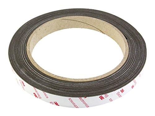 first4magnetsTM 19mm breit x 0,85 mm Dicke Flexible Neodym-Magnet mit 3M Tape selbst Klebstoff (1m Länge), Plastik, Brown, 40 x 20 x 5 cm