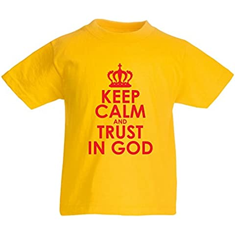 N4547K La camiseta de los niños Trust in God!