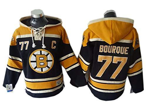 Sport NHL Boston Bruins#77 Hockey Jersey Trikot Zahlen Genähte Buchstaben Kapuzenpulli Langarm-T-Shirt Pullover Eishockey-Spieltrikots für Männer und Frauen -