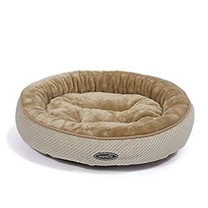 Pecute Panier Lit pour Chien Chat Pets Animaux Coussin Chaud Ovale Ultra-Doux Lavable en Machine Taille S Poids Moins de 5 Livres