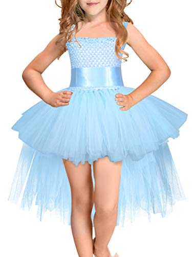 Araus abito bambina ragazze abiti senza maniche paillettes gonna di filo netto gonna tutu senza schienale vestito da principessa matrimonio festa formale