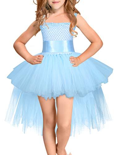 ARAUS Mädchen Kleid Ärmlos Kostüm Abendkleid Halloween Prizessin Tutu Rock Tüllrock 2-8 Jahre alt