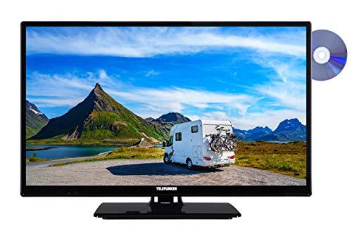 Telefunken XH24E401VD 61 cm (24 Zoll) Fernseher (HD ready, Smart TV, Triple Tuner, DVD-Player) schwarz