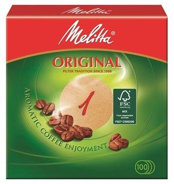 500 x Rundfilter / Kaffeefilter 'Melitta' Original 1 (Rund / Naturbraun)