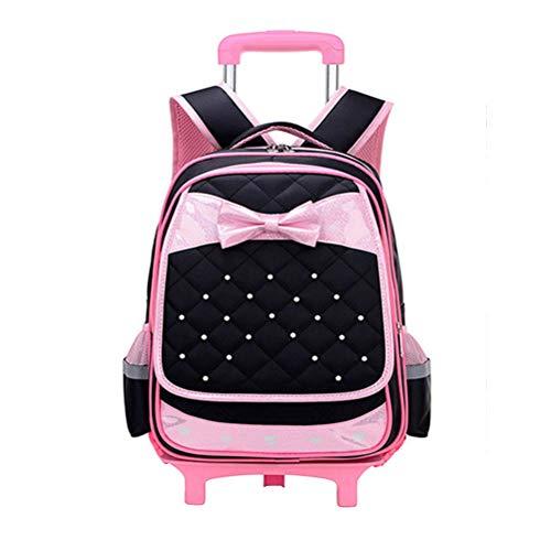 Laptoptasche Wandern Lässig Rucksack Bookbag für Kinder Jungen Mädchen - BESBOMIG Middle Primary Schüler Trolley Schultasche Verschleißfest Wasserdicht Nylon Schule Rucksack (33 * 24 * 48cm)
