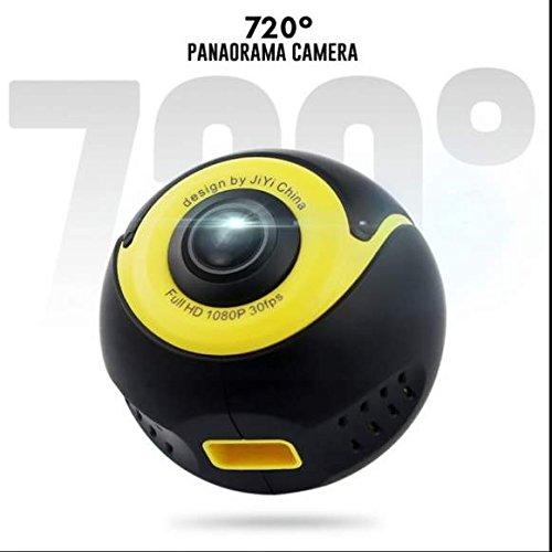 4K 360 Grad Tätigkeits Videokamera Wifi Mini Ultra HD PanoramaKamera 3D Sport VR Kamera,Rotatable AP Hotspot Connection,Outdoor Home Auto-Recorder DV Player Videokamera mit Zubehör (Home Hotspot)