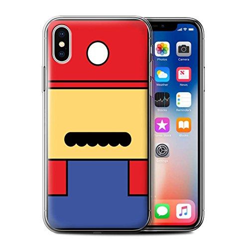 Stuff4® Gel TPU Hülle/Case für Apple iPhone X/10 / Mario Inspiriert Muster/Retro-Spiele Figuren Kollektion