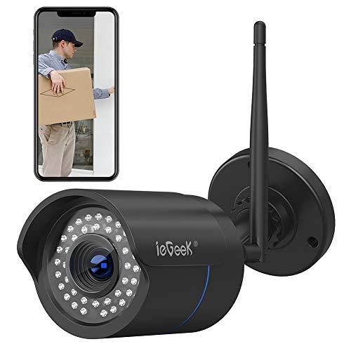 Cámara de Vigilancia Exterior,ieGeek Cámara IP Wi-Fi HD 1080P, Versión  Nocturna 25M, Impermeable IP66, Detección de Movimiento, Cámara de  Seguridad,