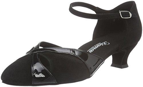 Diamant Damen Tanzschuhe 142-014-008, Chaussures de Danse de Salon Femme Noir