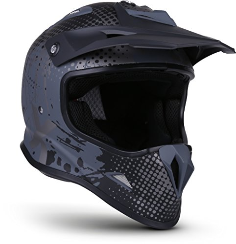 "Soxon® SKC-33 ""Fusion Titan"" · Kinder-Cross-Helm · Motorrad-Helm MX Cross-Helm MTB BMX Cross-Bike Downhill Off-Road Enduro-Helm Moto-Cross Sport · ECE Schnellverschluss SlimShell Tasche XS (51-52cm)"