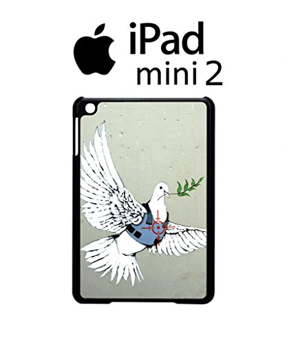 Banksy Peace War Bird Peagon Target Cool Funny Hipster Swag iPad Case Back Cover Hülle Weiß Schwarz Mini 2 Tablet Black