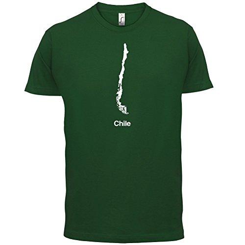 Chile / Republik Chile Silhouette - Herren T-Shirt - 13 Farben Flaschengrün