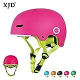XJD Kinder Fahrradhelm Skaterhelm Kinderhelm CE-Zertifizierung für Fahrrad Skateboard Schifahren BMX für 3-8 Jahre Alt Junge Mädchen (Rosa, S)