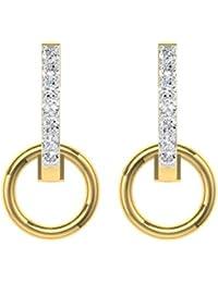 TBZ - The Original 18k Yellow Gold and Diamond Drop Earrings