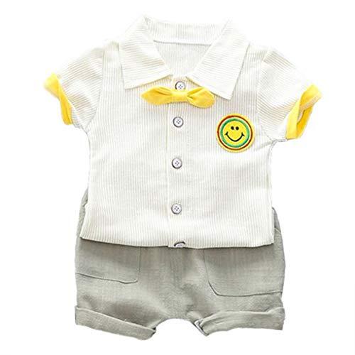 Plzlm Stripe-Revers-Shirt, Shorts Kinder-Kind-Kostüm Sommer-Baby-Kleidung stellt Kleinkind-Kind-Kleidung-Klagen