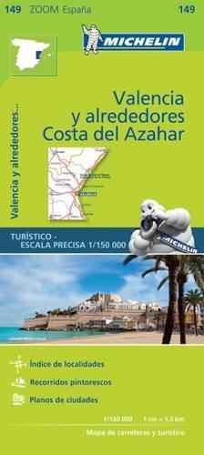 Mapa Zoom Valencia y alrededores, Costa del Azahar (Mapas Zoom Michelin)