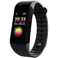 Smiler+ Fitness Tracker - Bracelet Connecté, Moniteur d'Activité Cardiofréquencemètre, de la pression artérielle et du sommeil, IP67 Etanche, Podomètre Calorie, écran couleur, Bracelet Sport for iPhone et Android