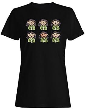 Nueva Mano Dibujada Empresaria camiseta de las mujeres l175f