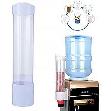 Dispensador de tazas desechables, dispensador de vasos de plástico para montaje en pared, dispensador