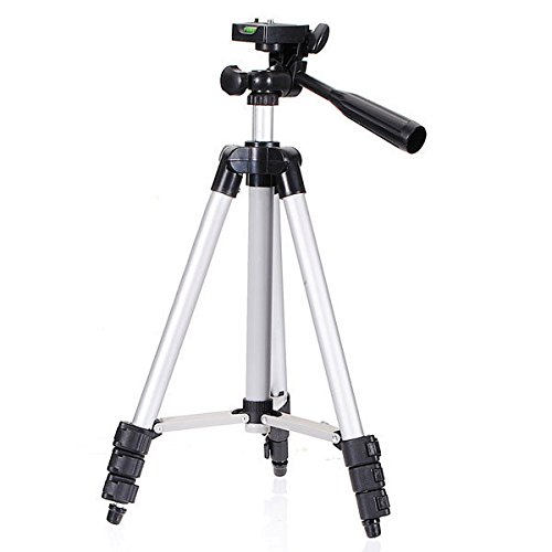 Portable 105 Cm Long 4 Section Adjustable 3 Way Pan & Tilt Tripod For DSLR | Mobile | Gopro Action Camera | Travel Purpose