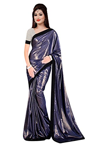 Blue Shimmer with Velvet Lace Saree