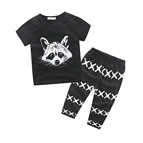 Zolimx Neugeborene Kinder Baby Outfits T-Shirt Tops + Pants Kleidung Set (70) (Gerber Baby-overalls)