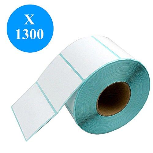 Preisvergleich Produktbild DynaSun 1300 Stück 10x5cm Thermo Etiketten auf Rolle 100x50 mm Kern 25 mm aussen gewickelt für Versandetiketten DPD, UPS, GLS und DHL