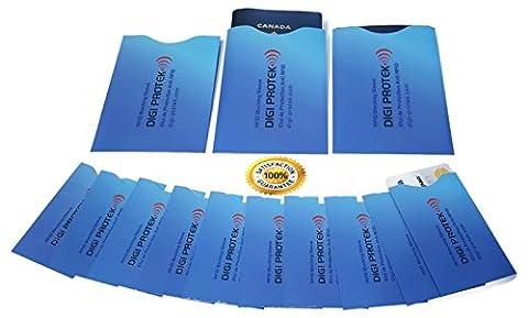 (3) ANTI RFID Étui Passport (Bleu) + (10) ANTI RFID Étui Carte de Crédit ou Carte de Débit - Anti RFID/NFC Paiement Sans Contact - Bloquent les Signaux RFID - Design Unique Format Mince et Pratique pour les Portefeuilles - Protégez-vous contre le Vol d'Identité avec ces Pochettes ANTI RFID/NFC de Qualité