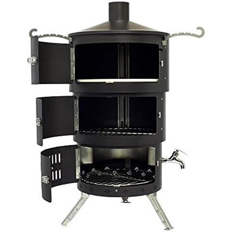 Ahumador de barbacoa portátil/horno de pizza//hoguera/chimenea aquaforno AF2Negro