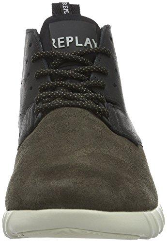 Replay Stamford, Baskets Basses Homme Gris - Grau (Dk Grey Black 558)