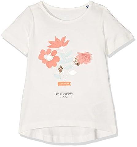TOM TAILOR Kids Mädchen a-Lined Artwork T-Shirt, Weiß (Soft Clear White 2067), 134 (Herstellergröße:
