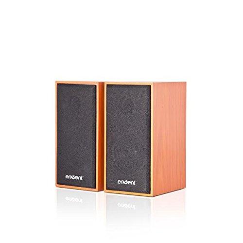 Envent 210V 6W Truewood USB Powered 2.0 Speaker(Brown)