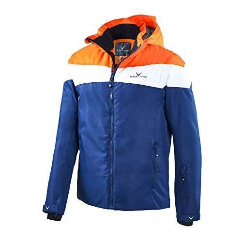 Black Crevice Herren Crevice Skijacke, Orange/White/Navy, 52 Orange Snowboard-jacke