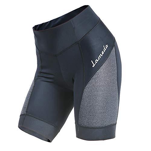 GodUp Fahrradhose Damen gepolstert Kurze Radlerhose Fahrrad Shorts für Radsport Downhill MTB (L, Schwarz)